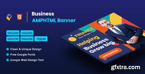 CodeCanyon - Business AMPHTML Banners Ads Template v1.0 - 25875077