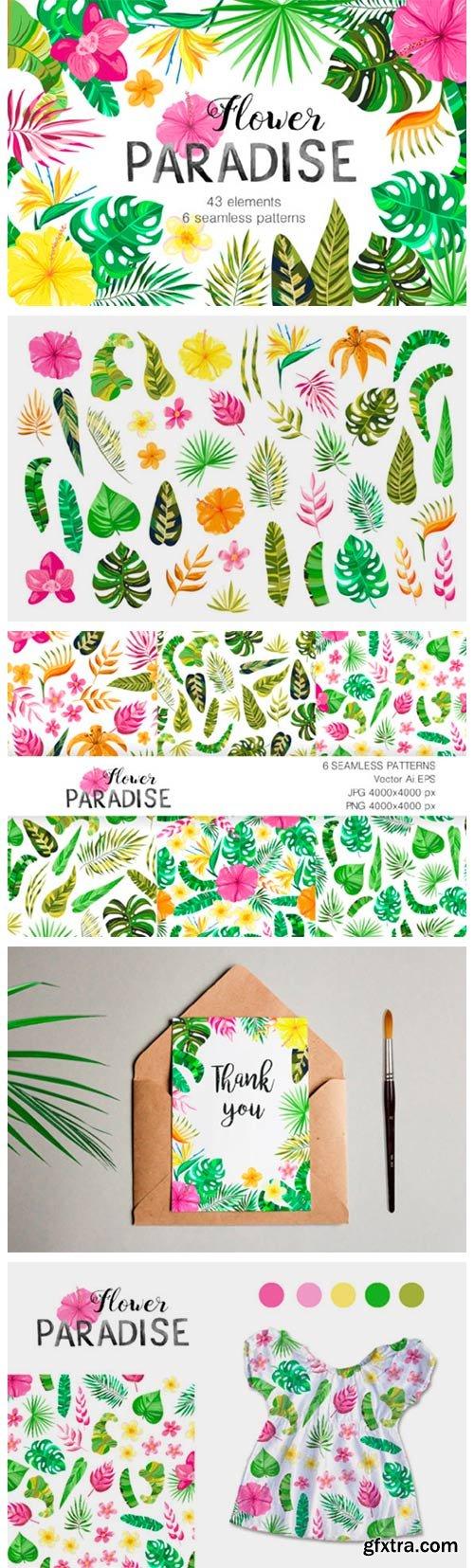 Vector Flower Paradise Set 3068783