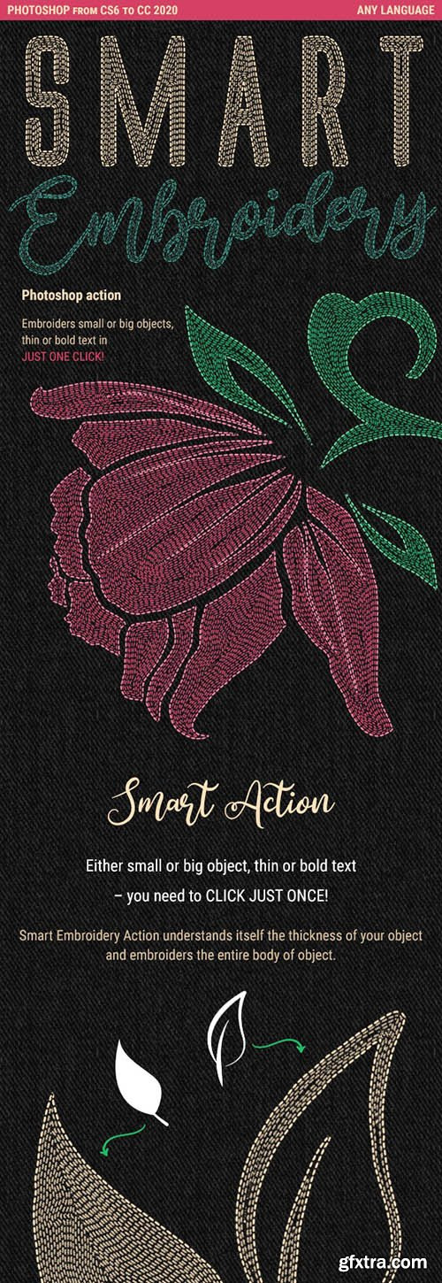 Graphicriver - Smart Embroidery - Photoshop Action 25827222