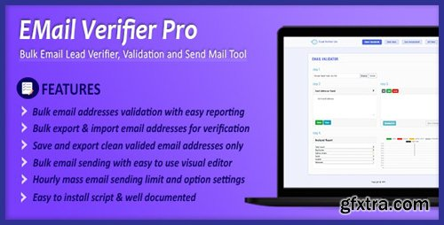 CodeCanyon - Email Verifier Pro v1.0.0 - Bulk Email Addresses Validation, Mail Sender & Email Lead Management Tool - 24407503
