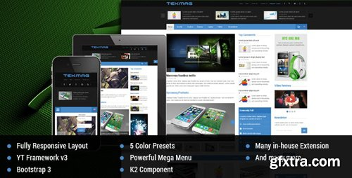 ThemeForest - Tekmag v3.9.6 - Technology News/Magazine Joomla Template - 9581880