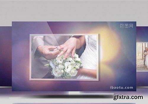 Beautiful romantic wedding family record EDIUS template