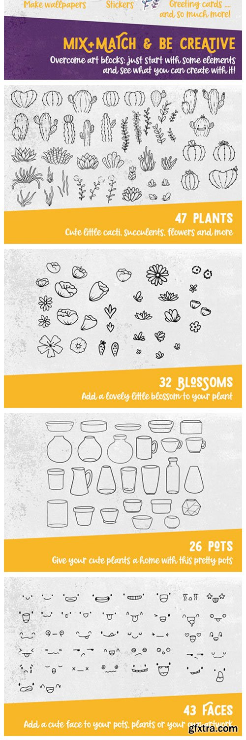 The Plants & Pots Stamp Set 3195392