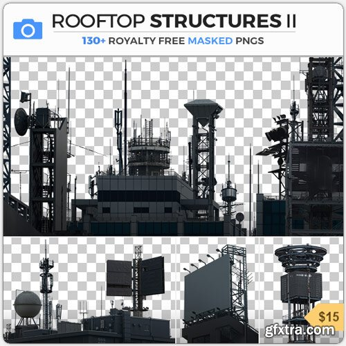 PhotoBash - ROOFTOP STRUCTURES II
