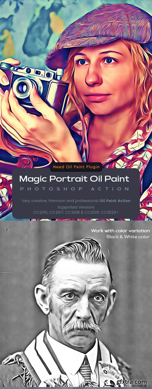 Graphicriver - Magic Portrait Oil Paint Action 25708894