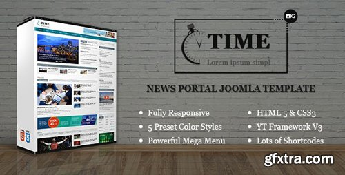 ThemeForest - Time v3.9.6 - Responsive News Portal Joomla Template - 11035698