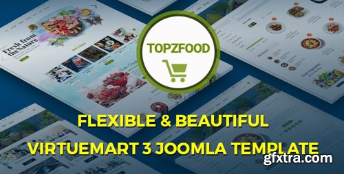 ThemeForest - TopzFood v3.9.6 - Multipurpose VirtueMart eCommerce Joomla Templates - 19909997