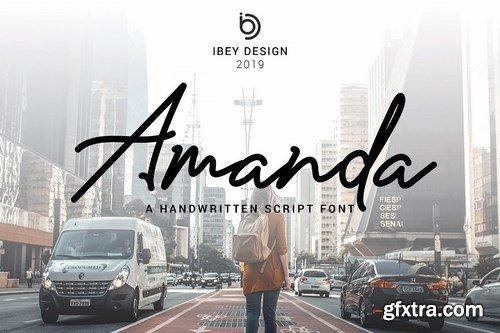 CM - Amanda - Signature Monoline Font 3626291