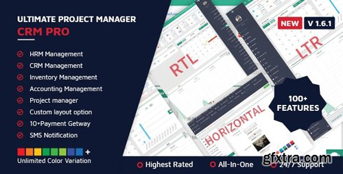 CodeCanyon - Ultimate Project Manager CRM PRO v1.6.1 - 16292398 - NULLED