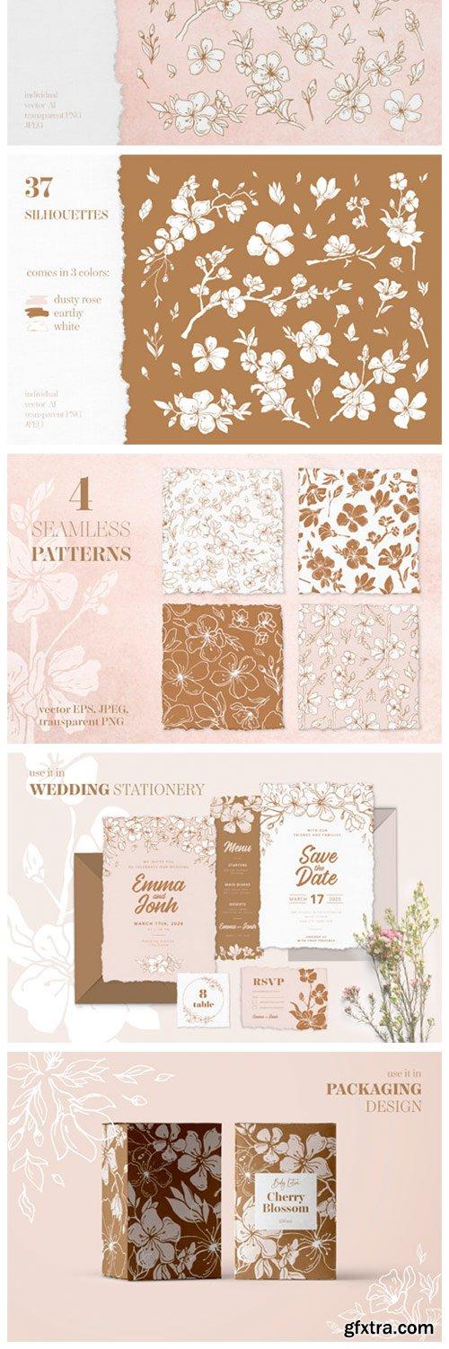 Cherry Blossom Graphic Set 3188276