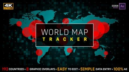 Videohive - World Map Population Tracker