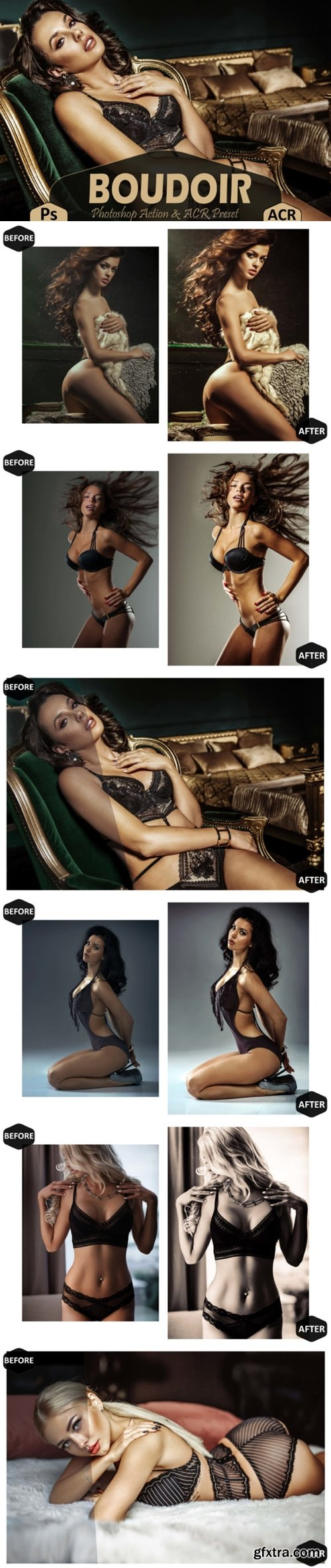 10 Boudoir Photoshop Actions, ACR Preset 3623506