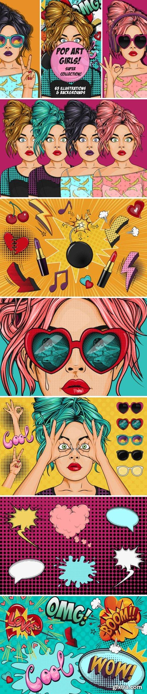 Comic Style Pop Art Girls 3625275