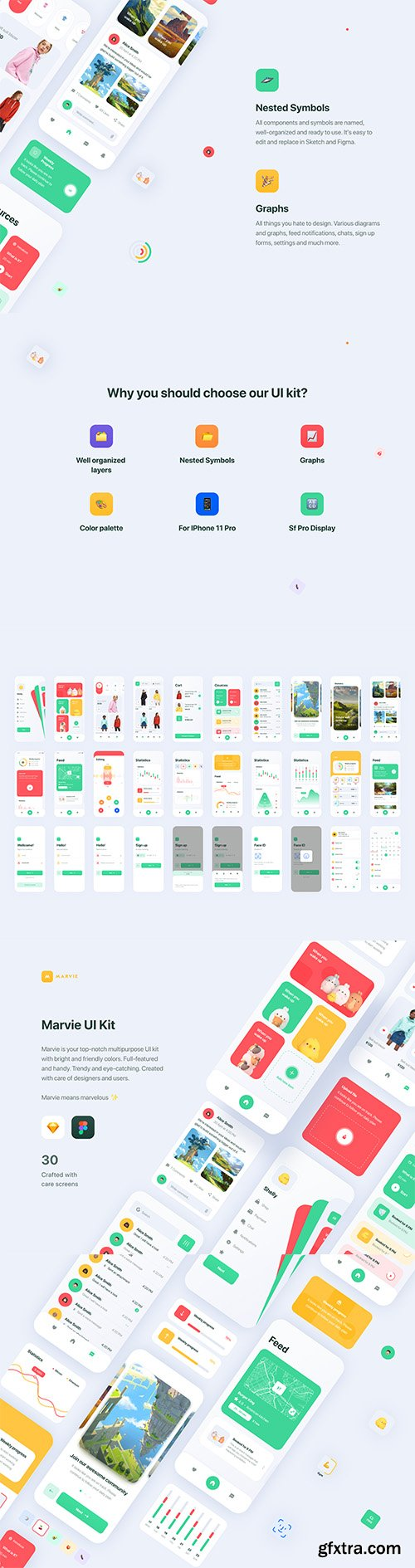 Marvie iOS App UI Kit