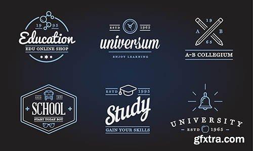 Set of Education Logo Illustration