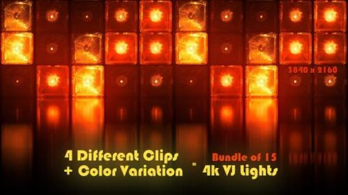 Videohive - Vj Cube Lights Stage Reflectors