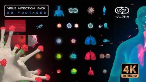 Videohive - Virus Infection Medical HUD Body Pack