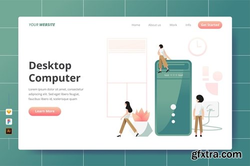 Desktop Computer - Landing Page