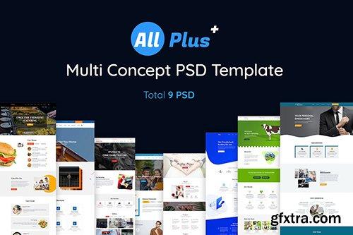 All Plus- Multi Concept PSD template Bundle