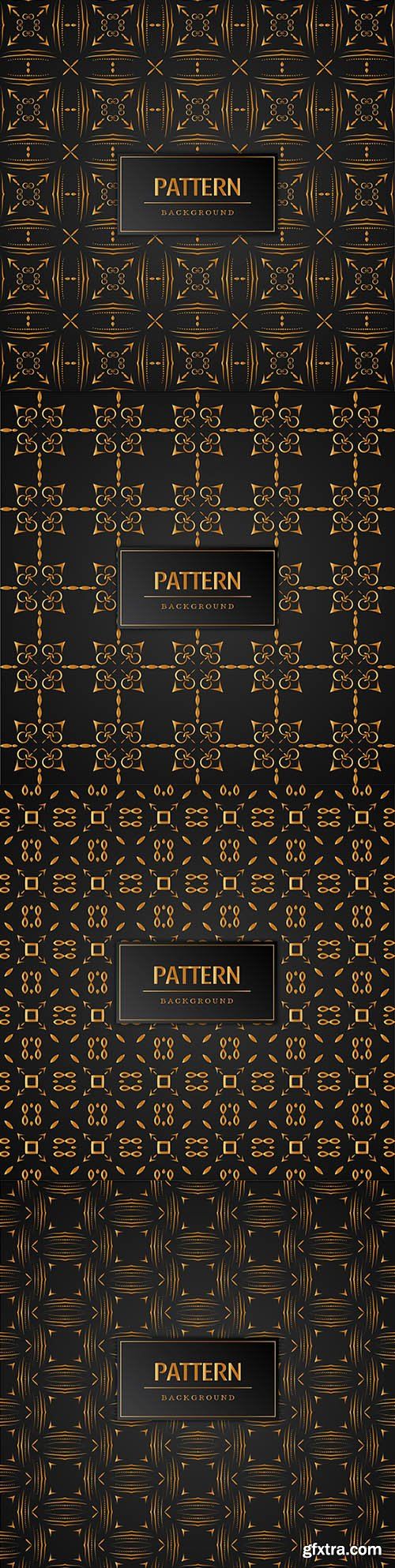 Elegant abstract gold pattern seamless background