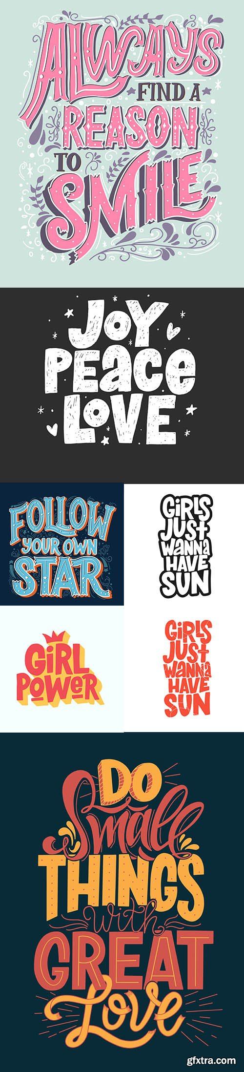 Typography Lettering Vector Set