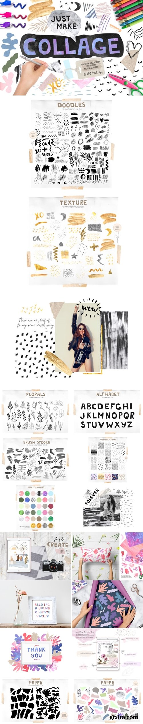 Collage Elements Bundle 3670442