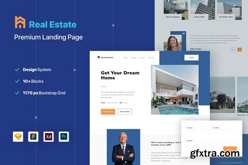Real Estate Property Landing Page Website Template