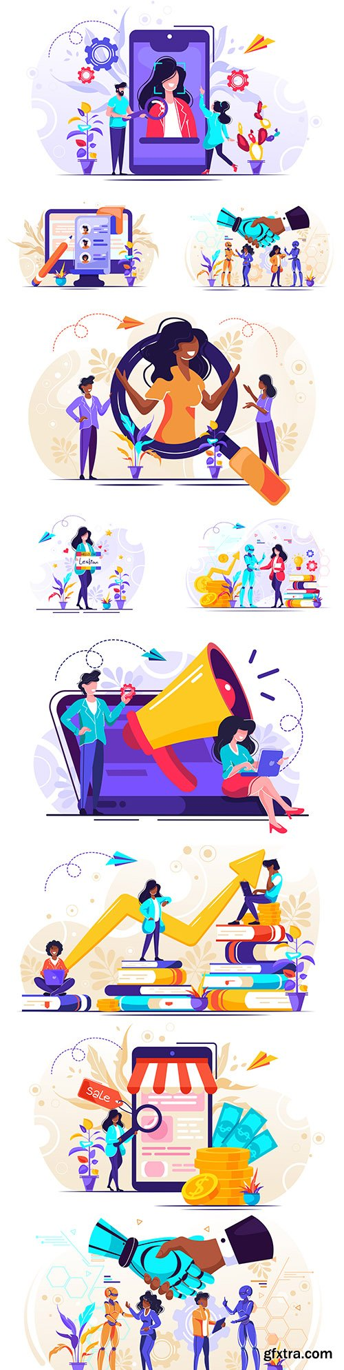 Online store and banking concept illustration
