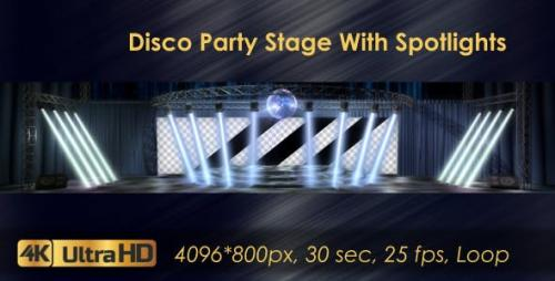 Videohive - Disco Party Stage With Spotlights