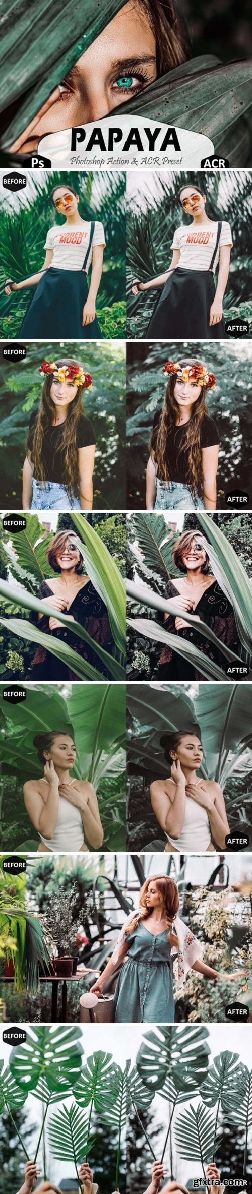 Papaya Photoshop Actions and ACR Presets 1668550