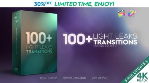 Videohive - FCPX Light Leaks Transitions - 23726269