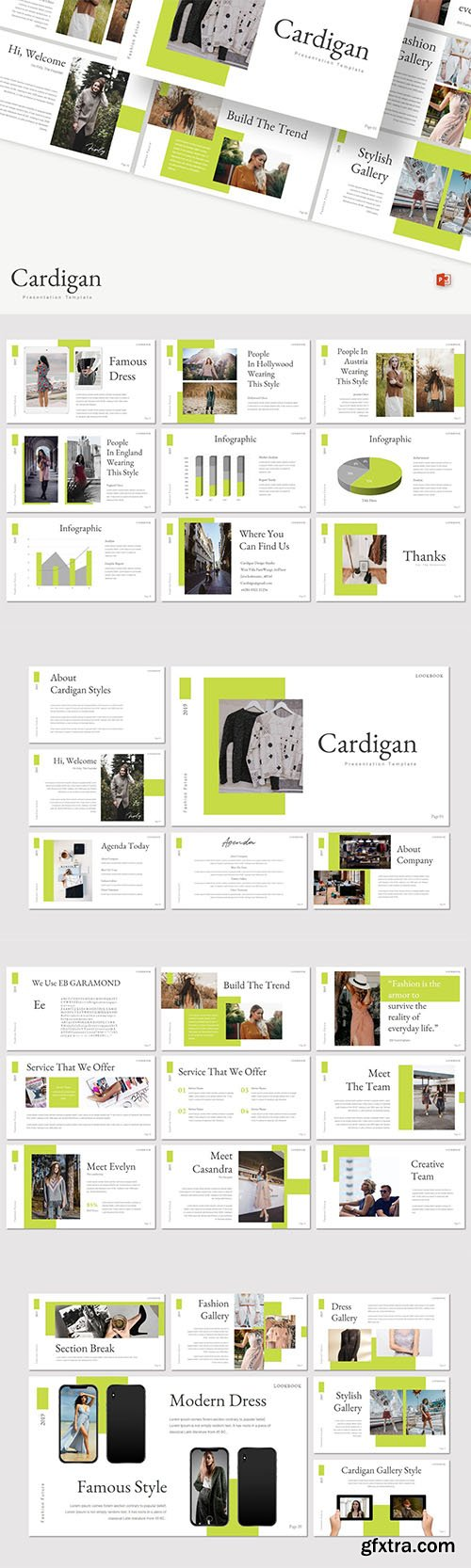 Cardigan - Powerpoint, Keynote and Google Slide Template