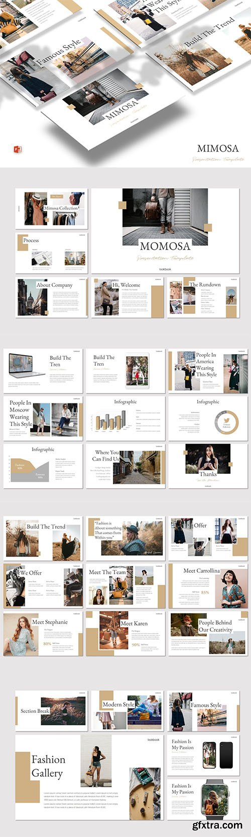 Mimosa - Powerpoint, Keynote and Google Slide Template