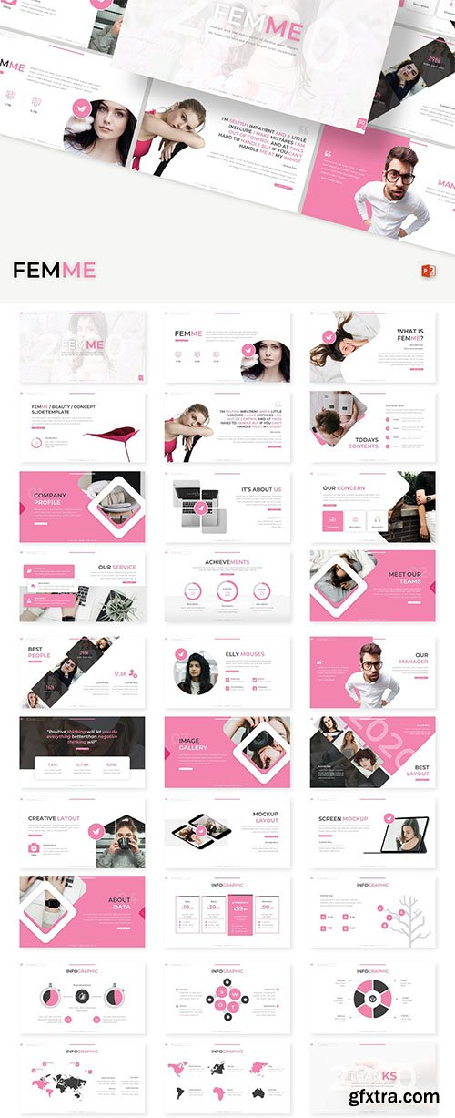Femme - Powerpoint, Keynote and Google Slide Template