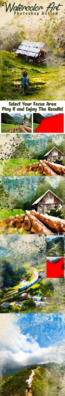 GraphicRiver - Watercolor Art Photoshop Action 25760857