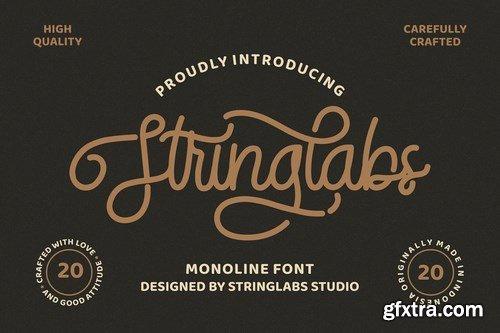 CM - StringLabs - Monoline Retro Font 4698593