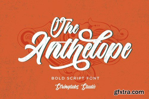 CM - The Anthelope - Retro Bold Script Font 4713237