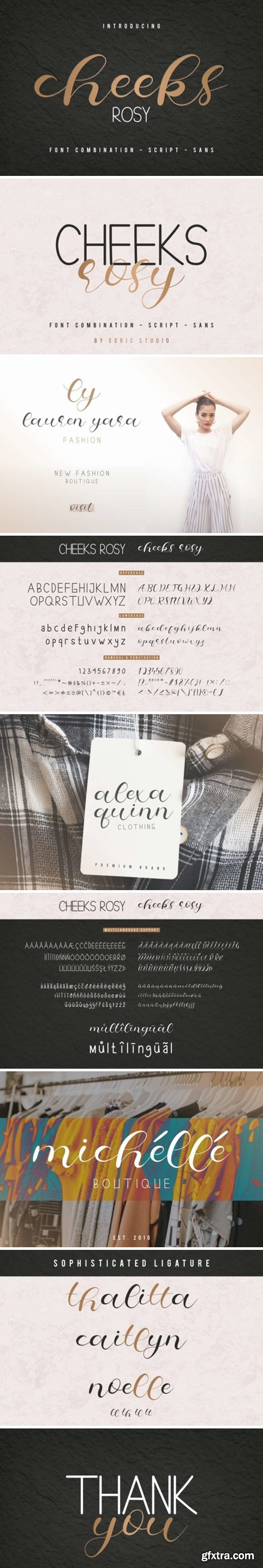 Fontbundles - Cheeks Rosy Font 519201