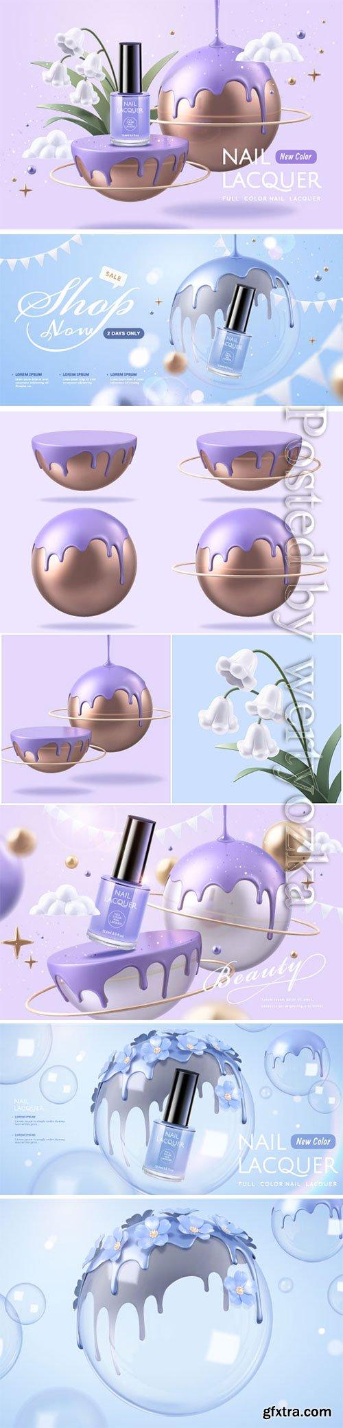 Purple nail lacquer ads