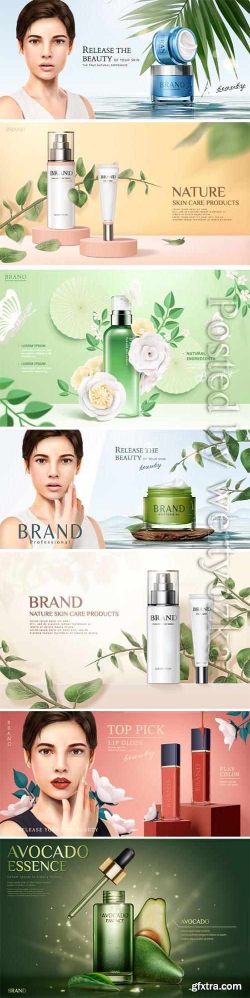 Cosmetics advertising posters, beautiful girl # 5
