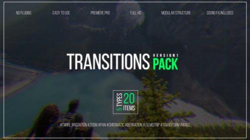 HOT Videohive - Transitions Pack V.1 - 21802247 for Premiere
