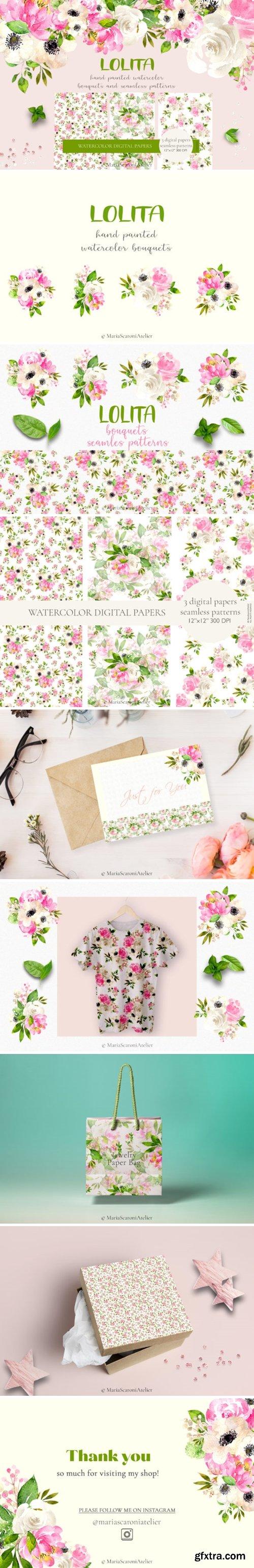 Lolita Watercolor Spring Flowers 3706882