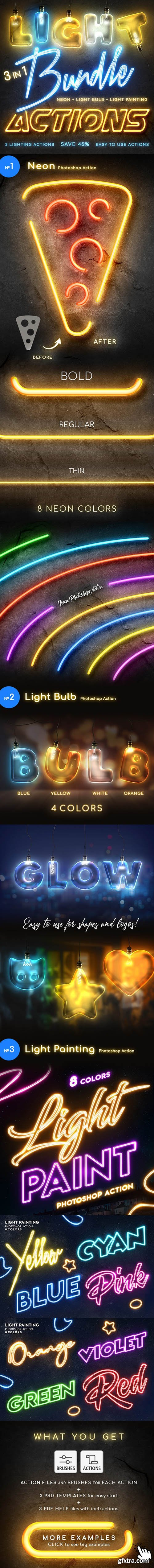 GraphicRiver - Lighting Photoshop Actions Bundle 25882789