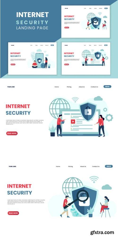 Internet Security Concept Landing Page 3708757