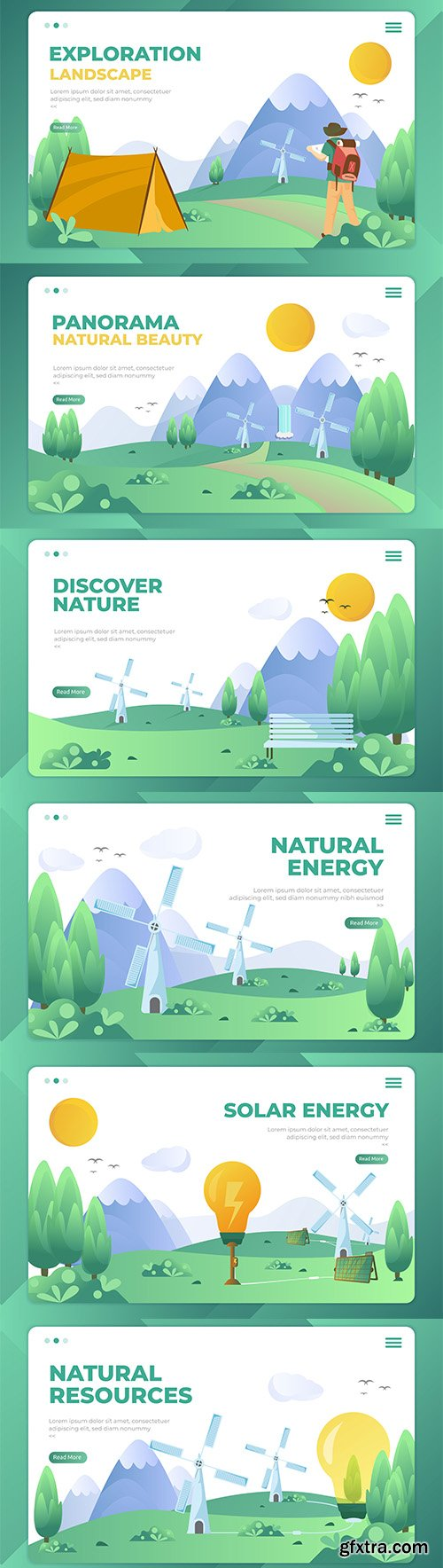 Natural Resources Landing Page Templates