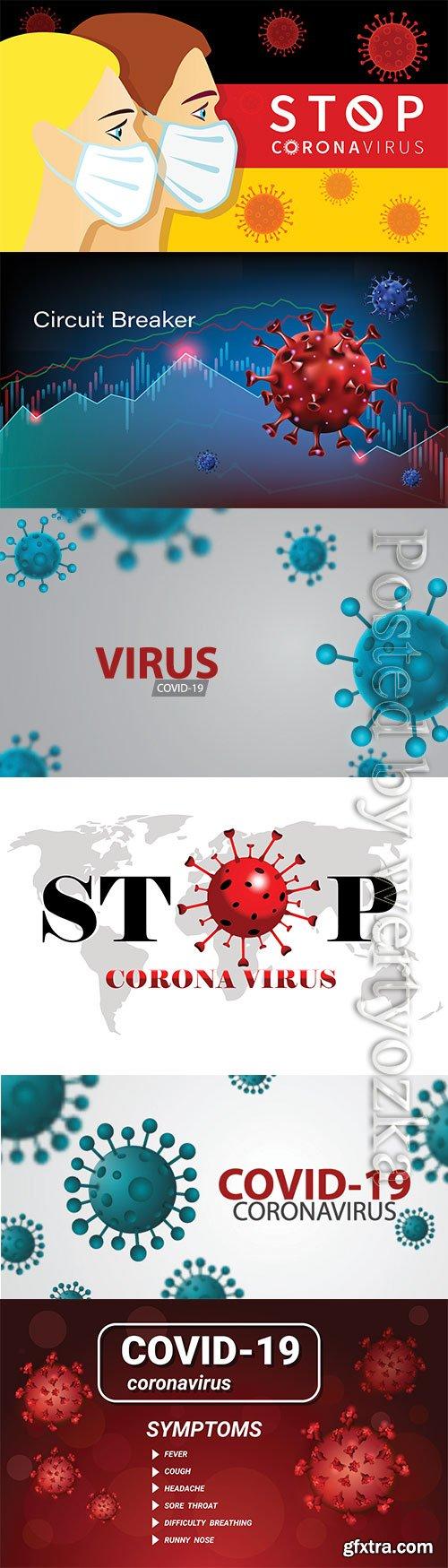 Pandemic coronavirus or covid-19 virus effect to stock market business