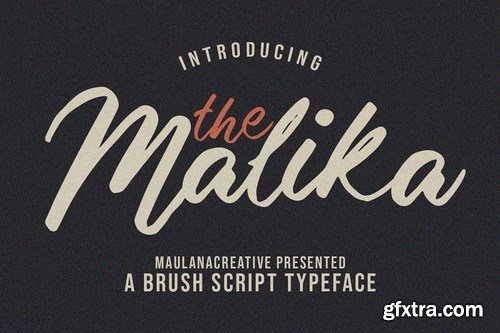 CM - Malika Brush Script Typeface 4649040