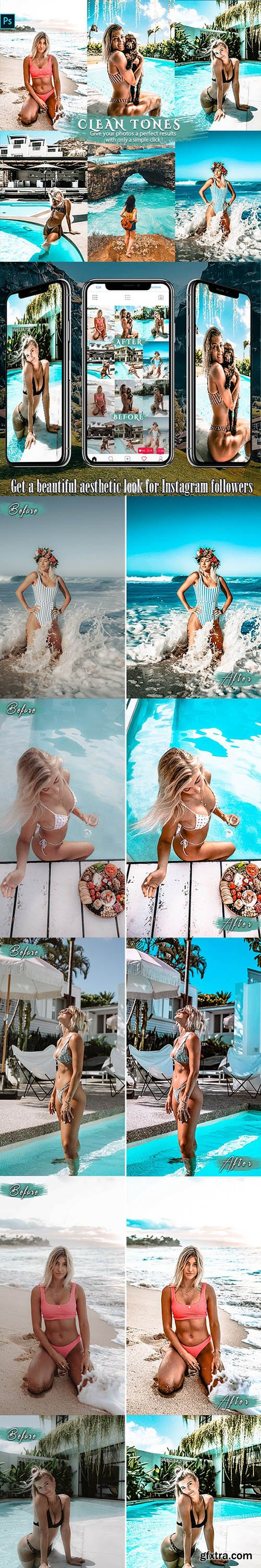 GraphicRiver - Clean Effects Travel Photoshop Actions 26039562