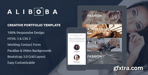 ThemeForest - Aliboba v1.0 - One Page Creative Portfolio Template (Update: 1 July 15) - 7797119