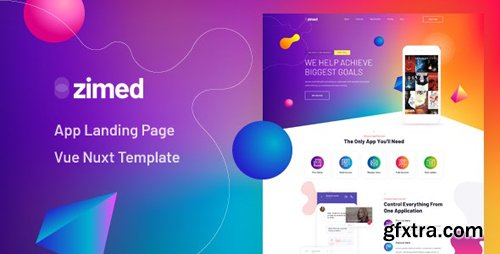 ThemeForest - Zimed v1.0 - Vue Nuxt App Landing Page Template - 26103144